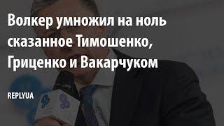 Волкер умножил на ноль сказанное Тимошенко, Гриценко и Вакарчуком