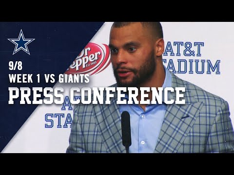 Dak Prescott Postgame Week 1 Win vs New York Giants | Dallas Cowboys 2019