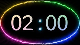 2 Min COUNTDOWN TIMER ( V 638 ) TIMER With Sound  Music 4k