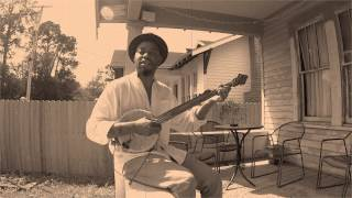 "Cedric Watson on gourd banjo ""Little Sadie"""