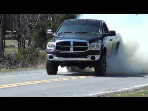 Dodge Ram Cummins Massive BURNOUT!
