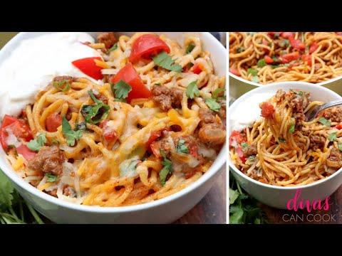 Cheesy Taco Spaghetti | Quick & Easy Dinner