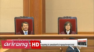 Constitutional Court holds second hearing in president