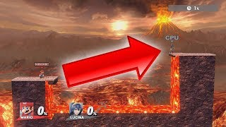 Who can go OVER the Fiery Pit of DEATH?! (Super Smash Bros. for Wii U) 1080p HD