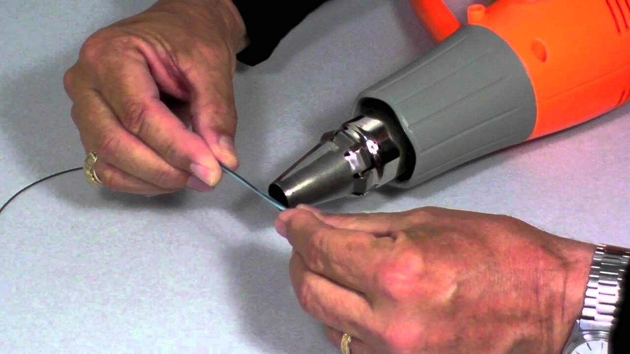 how to fix a welded loop in fly line