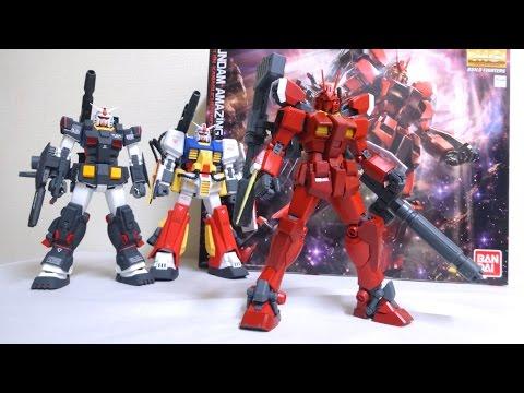 MG 1/100 ガンダムアメイジングレッドウォーリア ヲタファのガンプラレビュー MG Gundam Amazing Red Warrior review