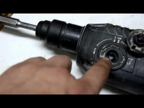 Как поставить переключатель режимов на перфоратор 2-24 Bosch
