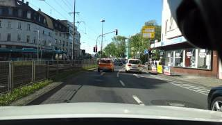 preview picture of video 'Fahrt in Frankfurt / Main am 17.05.2012 18:30h von der Innenstadt nach Eschersheim'