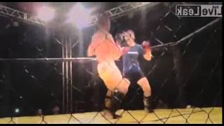 MMA woman beats guy in 53 secs by TKO.