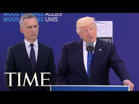 President Trump Pushes NATO Members To Pay 'Their Fair Share' | TIME
