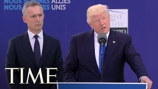 President Trump Pushes NATO Members To Pay
