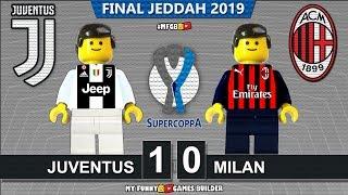 Italian Super Cup 2019 • Juventus Vs Milan 1-0 • Supercoppa 2018 • Goals Highlights Lego Football