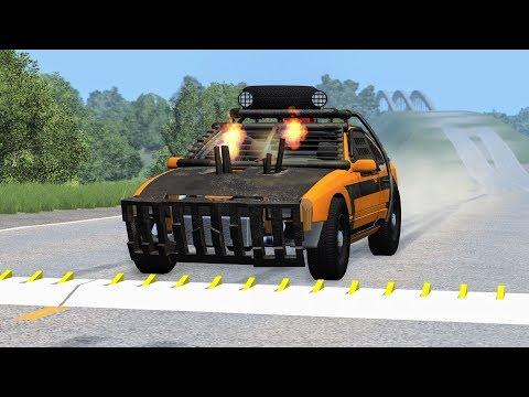 Spike Strip High Speed Crashes #35 – BeamNG Drive