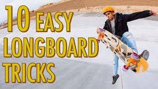 10 EASY LONGBOARD TRICKS FOR BEGINNERS   LoadedTV S2 E5