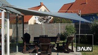 Elektrisch aufrollbares Sonnensegel (mit Motor), selbst gebaut für unter 1000€