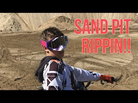 Riding in a MASSIVE SANDPIT!!