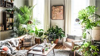 Boho Industrial Home Filled With Plants ▸ Interior Design