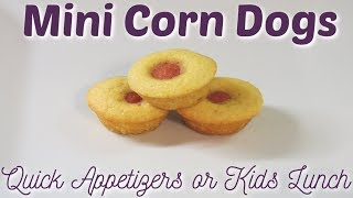 Mini Corn Dog Muffins - Super Easy Appetizers!