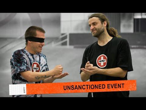 Unsanctioned Game Of S.K.A.T.E. Blindfolded | Dan Mancina Vs. David Reyes