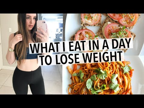 Video WHAT I EAT IN A DAY | QUICK + HEALTHY RECIPES FOR WEIGHT LOSS!