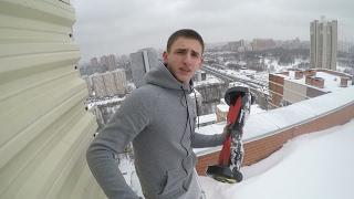 СБРОСИЛИ ГИРОСКУТЕР С 24 ЭТАЖА !!! / Чуть не упал с крыши!