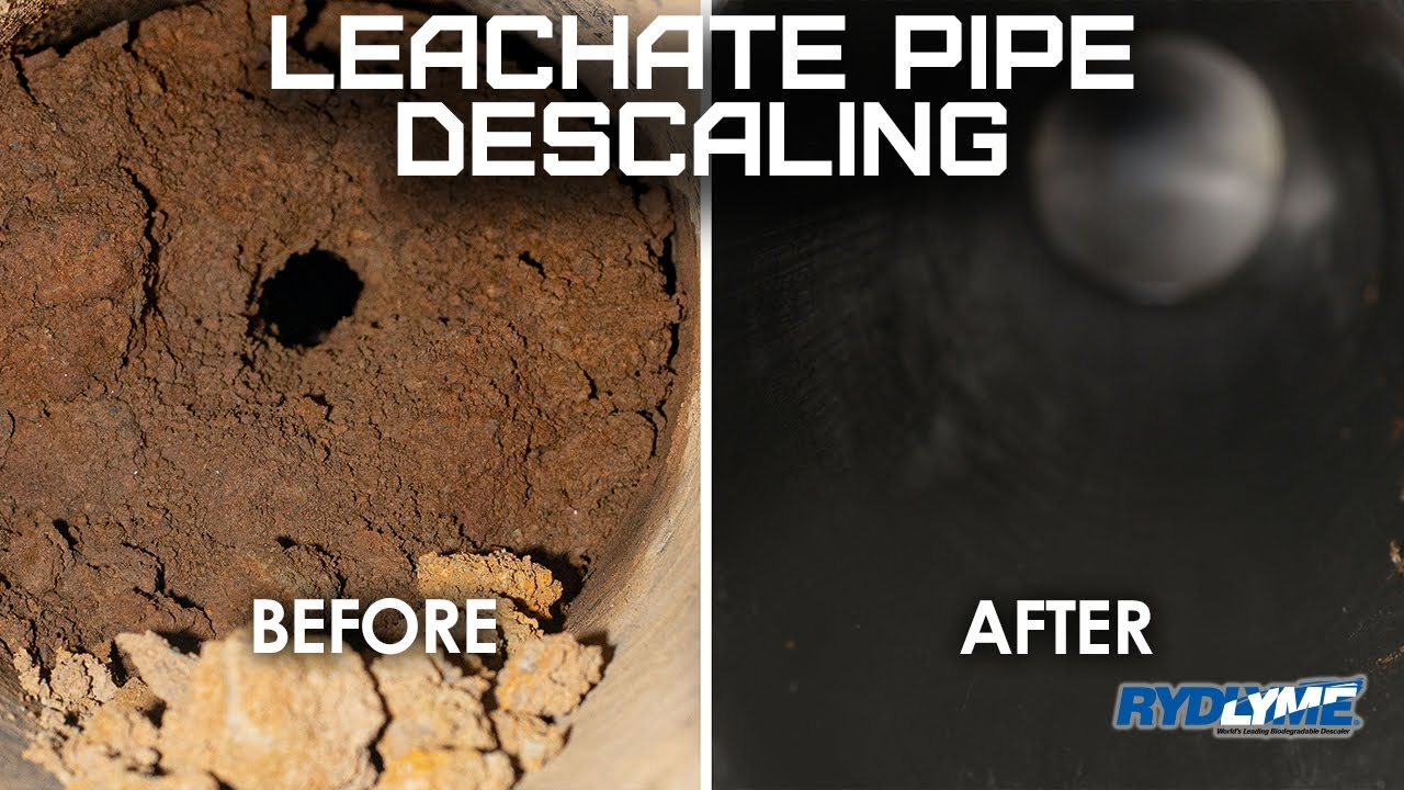 Scale Removal from Leachate Pipe with RYDLYME Biodegradable Descaler