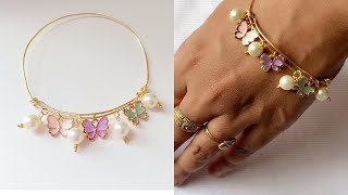 Diy Bracelet/How To Make Simple And Delicate Charms Bracelet/Wire Charm Bracelet/handmade Jewelry