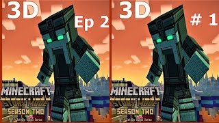 3D VR video Minecraft Story Mode S 2 Ep2 #1 3D SBS  VR box  google cardboard