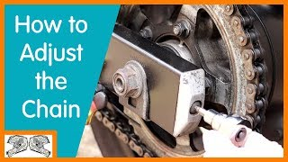 HOW TO Adjust Your Motorcycle Chain (on a Suzuki GSX650F)