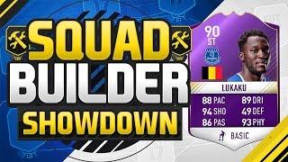 FIFA 17 SQUAD BUILDER SHOWDOWN!!! PLAYER OF THE MONTH LUKAKU!!! 90 Rated POTM Lukaku