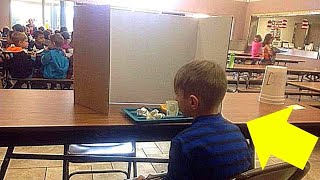 Boy Forced to Eat Lunch Behind a Screen After His Parents Dropped Him Off Late