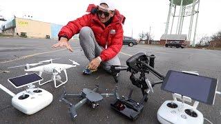Обзор дронов DJi Phantom 4 Pro+ vs. Inspire Pro vs. Mavic Pro. Casey Neistat на русском
