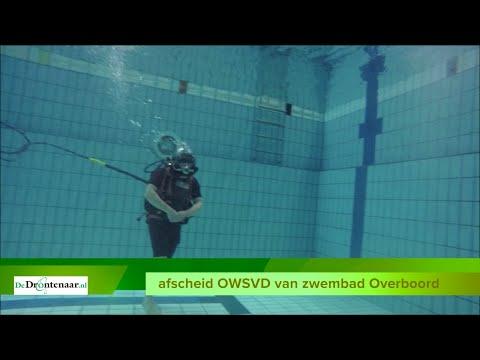 Duikvereniging OWSVD neemt met bijzondere helmduik afscheid van zwembad Overboord