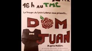 preview picture of video 'Dom Juan par la troupe du lycée Charles-François Lebrun de Coutances'