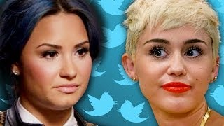Miley Cyrus & Demi Lovato Unfollow Each Other on Twitter- WAR!