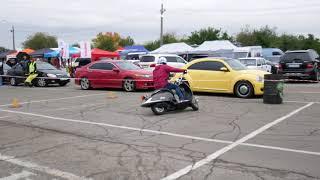Motogymkhana. Заезд Кости (№57) на Honda Joker на соревнованиях 24 сентрября 2017 года