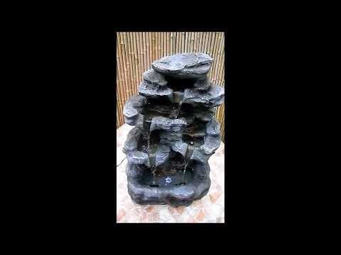 Kaskadenbrunnen steinoptik