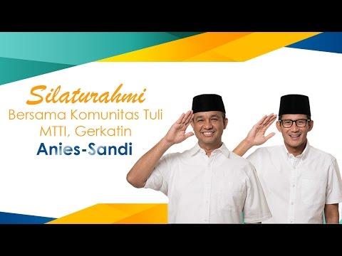 Silaturahmi Komunitas Tuli Bersama Anies-Sandi