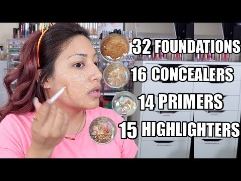 MIXING ALL MY MAKEUP TOGETHER! YOU NEED TO DO THIS! - Alexisjayda