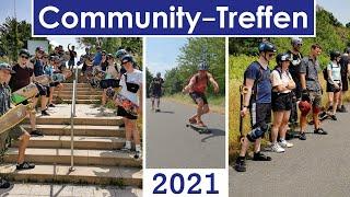 So viele Longboarder*innen! - Großes Community-Treffen mit Longboard-Tour und Rollen-Gewinnspielen