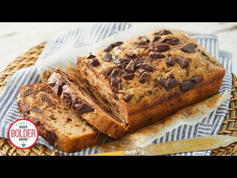 Chocolate Chip Banana Bread Recipe (BOTH Oven & 10-Minute Microwave Method)
