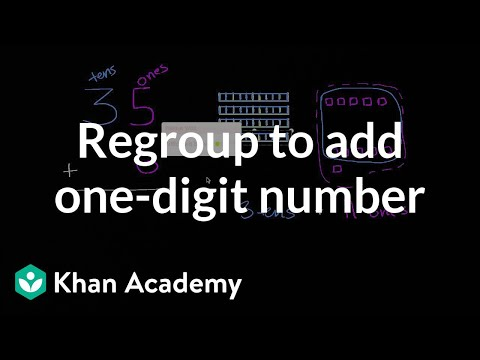 Regrouping when adding one-digit numbers
