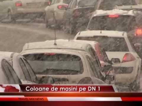 Coloane de maşini pe DN 1