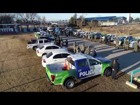 Petrecca destacó el trabajo conjunto para llevar más seguridad a la zona rural de Junín