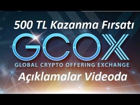 GCOX BORSASI İLE İNTERNETTEN 500 TL PARA KAZAN BİTCOİN KRALI