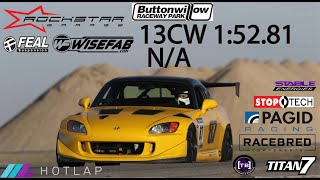 homepage tile video photo for Lap record for insured and registered N/A s2000 at Buttonwillow 13cw? 1:52.81