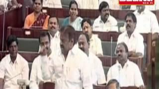 Real Fight In Tamilnadu Assembly  Jayalalitha Vs Vijayakant