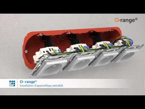 O-range® boîtiers pour parois creuses. Exécution en simple - double - triple et quadruple.