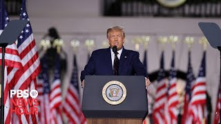 WATCH: President Donald Trump's full speech at the Republican National Convention | 2020 RNC Night 4