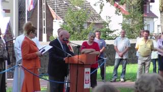 preview picture of video 'Zeremoniell Enthüllung Gedenkstein Bielice'